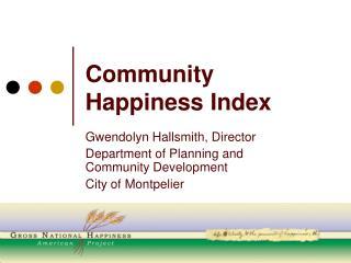 Community Happiness Index