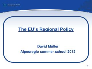 The EU's Regional Policy