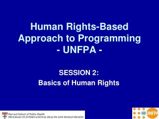 Human Rights-Based Approach to Programming - UNFPA  -