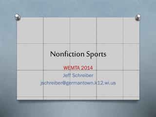 Nonfiction Sports