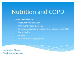 Nutrition and COPD