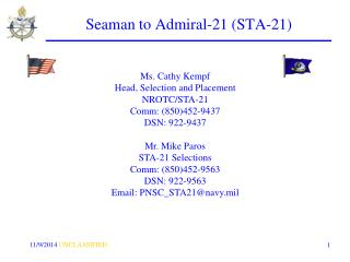 Seaman to Admiral-21 (STA-21)