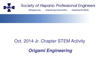 Oct. 2014 Jr. Chapter STEM Activity