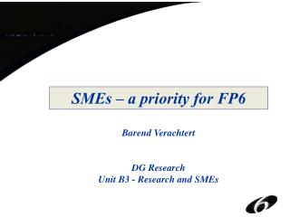 SMEs – a priority for FP6