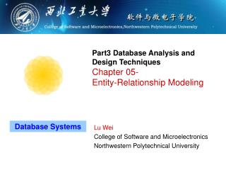Part3 Database Analysis and Design Techniques Chapter 05- Entity-Relationship Modeling