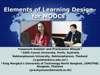 Elements of Learning Design for MOOCs