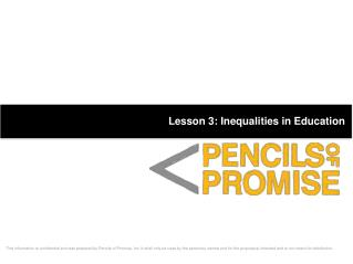 Lesson 3: Inequalities in Education