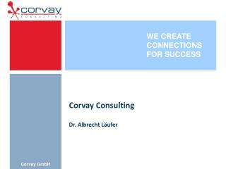 Corvay Consulting Dr. Albrecht Läufer