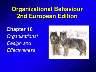 Chapter 18 Organizational  Design and Effectiveness