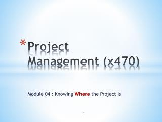 Project Management (x470)