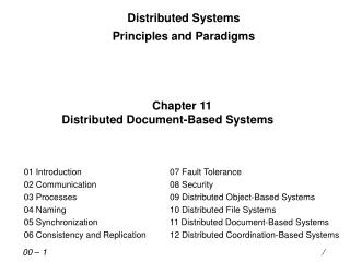 Distributed Systems Principles and Paradigms