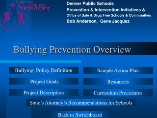 Bullying Prevention Overview