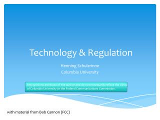 Technology & Regulation
