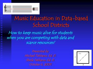Music Education in Data-based School Districts