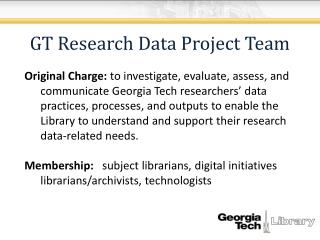 GT Research Data Project Team