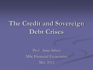 The Credit and Sovereign Debt Crises