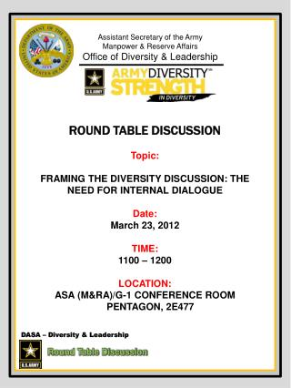 DASA   Diversity  Leadership             Round Table Discussion
