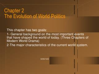 Chapter 2  The Evolution of World Politics