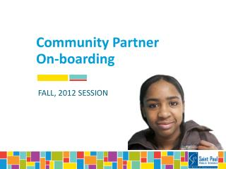Community Partner On-boarding
