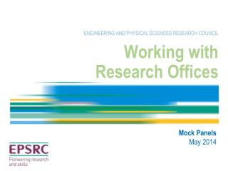 Working with  Research Offices