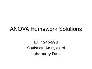 ANOVA Homework Solutions