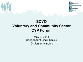 SCVO Voluntary and Community Sector CYP Forum