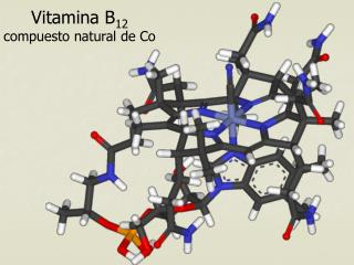 Vitamina B 12 compuesto natural de Co
