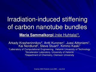 Irradiation-induced stiffening of carbon nanotube bundles