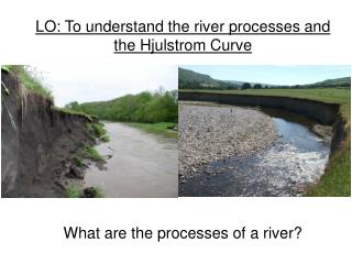 LO: To understand the river processes and the Hjulstrom Curve What are the processes of a river?