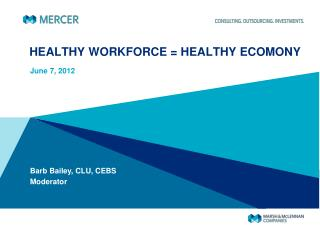 HEALTHY WORKFORCE = HEALTHY ECOMONY