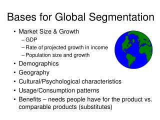 Bases for Global Segmentation