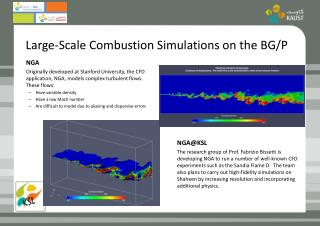 Large-Scale Combustion Simulations on the BG/P