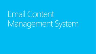 Email Content Management System