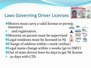 Laws Governing Driver Licenses