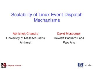 Scalability of Linux Event-Dispatch Mechanisms
