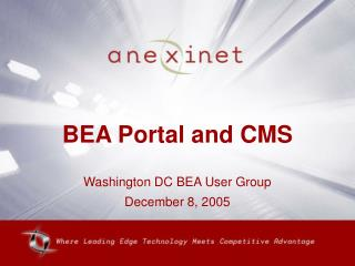 BEA Portal and CMS