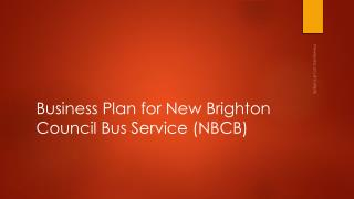 Business Plan for New Brighton Council Bus Service (NBCB)