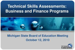 Technical Skills Assessments: Business and Finance Programs