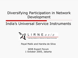 Diversifying Participation in Network Development