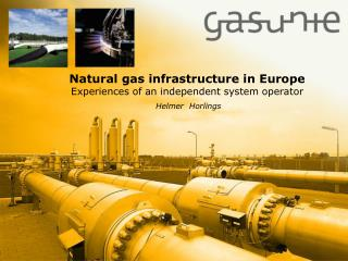 Natural gas infrastructure in Europe Experiences of an independent system operator