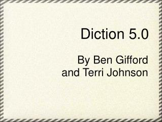 Diction 5.0