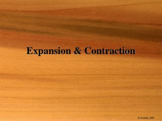 Expansion & Contraction