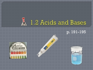 1.2 Acids and Bases