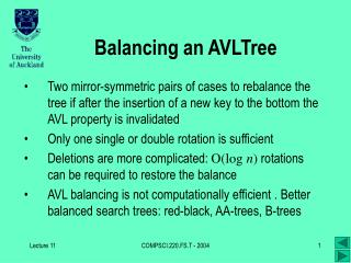 Balancing an AVLTree