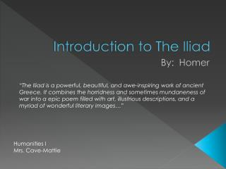 Introduction to The Iliad