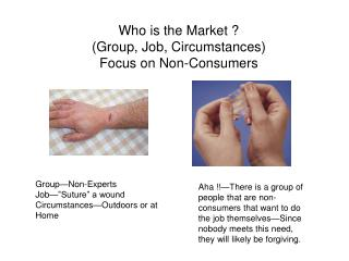 Who is the Market ? (Group, Job, Circumstances) Focus on Non-Consumers