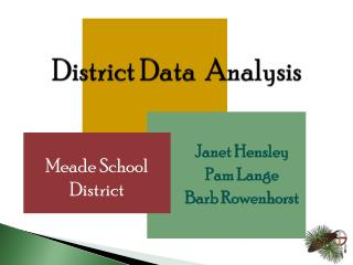 District Data  Analysis