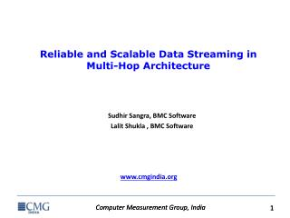 Reliable and Scalable Data Streaming in Multi-Hop  Architecture