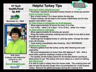 Helpful Turkey Tips
