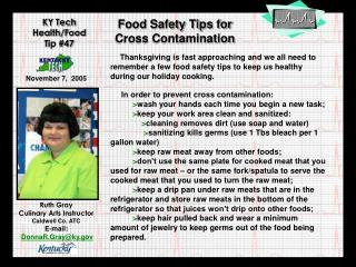 Food Safety Tips for Cross Contamination